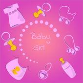Baby girls — Stock Vector