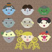Fairy tale characters of the world — Stockvector