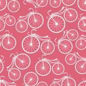 Retro bicycles pattern — Wektor stockowy