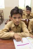 Indian boy in class room — Foto de Stock