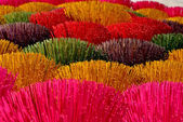 Colored incense sticks in bundles. — Stock Photo