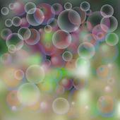 Background, soap bubbles — Stock Vector