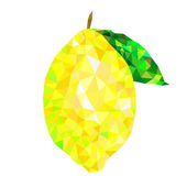 Lemon triangles, abstract fruit, isolated on a white background — Stock Vector