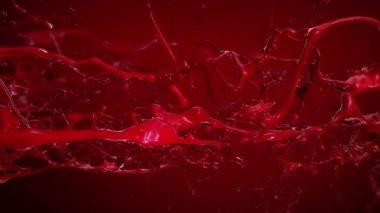 Blood, Red liquid Splashing. Slow motion. — Stock Video