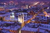 Evening twilight in Lvov — Foto de Stock