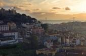 Sunset in Lisbon — Stock Photo
