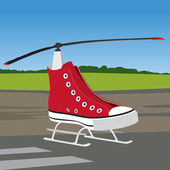 SneakersHelicopter — Stock Vector