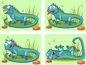 Lizard cartoon — Stock Vector