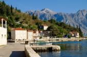 Beautiful view on city of Perast at Kotor bay — Stock Photo