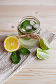 Mojito drink with mint and citrus — Stock Photo