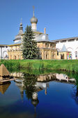 Church of Virgin the Hodegetria in Rostov Kremlin Russia with specular reflection. — Stock Photo