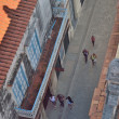 Havana, Cuba on 29 of April 2012. The top view on the street of the old city and tile roofs. — Stock Photo #65721763