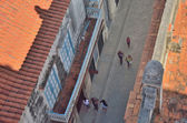 Havana, Cuba on 29 of April 2012. The top view on the street of the old city and tile roofs. — Stock Photo