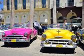 Retro cars in Havana, Cuba. — Photo