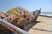 Traditional indian fishing boat. — Stock Photo