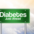 Diabetes Just Ahead Green Road Sign, business concep — Stock Photo #65772135
