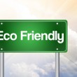 Eco Friendly Green Road Sign concep — Stock Photo #65780265