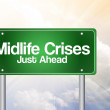 Midlife Crises Just Ahead Green Road Sign concep — Stock Photo #65781459