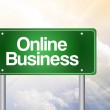 Online Business Green Road Sign, business concep — Stock Photo #65798241
