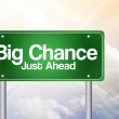 Big Chance, Just Ahead Green Road Sign, business concep — Stock Photo #65798389