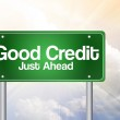 Good Credit Green Road Sign, business concep — Stock Photo #65799233