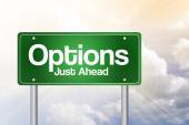 Options Green Road Sign, business concep — Stock Photo
