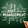 Постер, плакат: Risk Management Shows Identifying Evaluating And Treating Risks