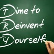 Hand drawn Time to Reinvent Yourself (TRY), business concept on — Stock Photo #65966663