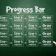 Hand drawn Progress Bar for presentations and reports, business  — Stock Photo #65978955