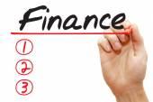 Hand writing Finance List, business concep — Foto de Stock