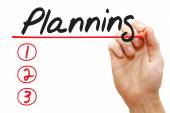 Hand writing Planning List, business concep — Stock Photo