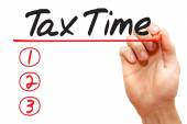 Hand writing Tax Time List, business concep — Stock Photo