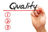 Hand writing Quality List, business concep — Stock Photo