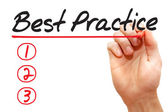 Hand writing Best Practice List, business concep — Stock Photo
