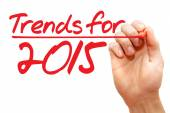 Hand writing Trends for 2015, business concept — Stock Photo