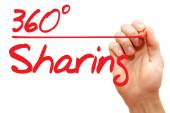 Hand writing 360 Degrees Sharing, business concept — Stockfoto