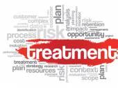 Treatment Word Cloud — Stock Vector