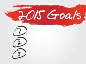 Hand writing 2015 Goals List — Stock Vector