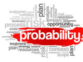 Probability word cloud — Stock Vector