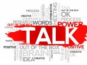 TALK. Word — Stock Vector