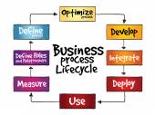 Business Process Lifecycle — Stock Vector