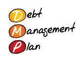 Debt Management Plan — Stock Vector