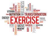 EXERCISE word cloud — Stock Vector