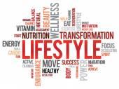 Nuage de mot Lifestyle — Vecteur