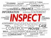 INSPECT word cloud — Stock Vector