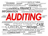 AUDITING word cloud — Stock Vector
