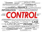 CONTROL word cloud — Stock Vector