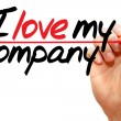 I love my company — Stock Photo #67033381