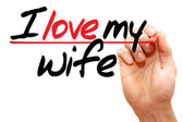 Amo minha esposa — Fotografia Stock