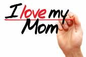 Jag älskar min mamma — Stockfoto